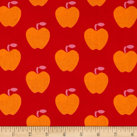 Apple Hill Farm Apples Red Fabric