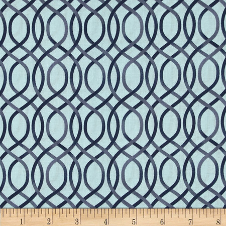 Ariana Trellis Navy Fabric