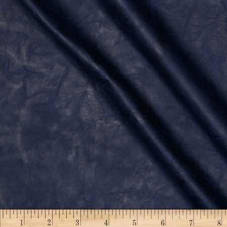 Telio Arizona Faux Leather Navy Fabric By The Yard
