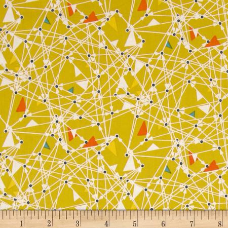 Art Gallery Chromatics Triangularity Mustard Fabric