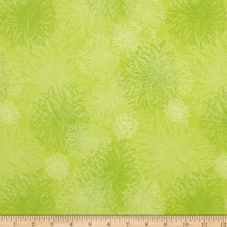 Art Gallery Elements Floral Kiwi Fabric