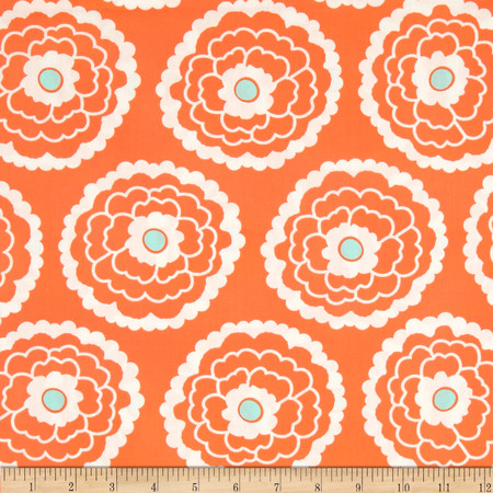Art Gallery Essentials Girl About Town Orange Fabric