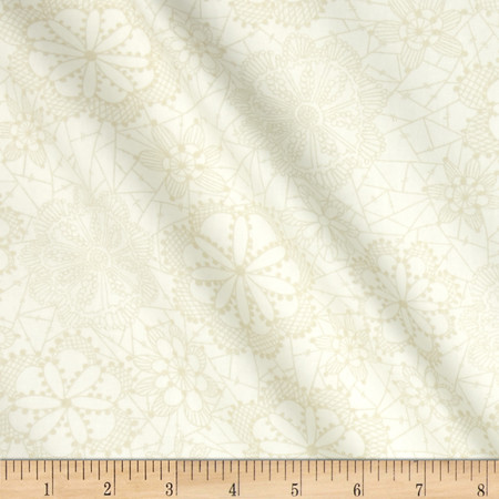 Art Gallery Fleet & Flourish Lace In Bloom Cloud Fabric By The Yard