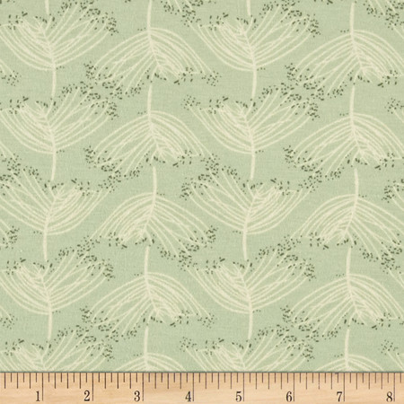 Art Gallery Forest Floor Jersey Knit Laced Moss Fabric By The Yard
