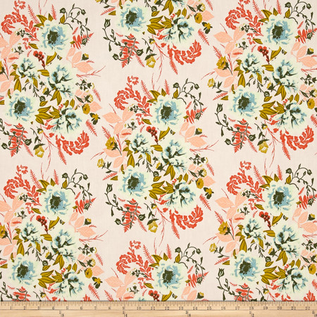 Art Gallery Forest Floor Wild Posy Flora Fabric By The Yard