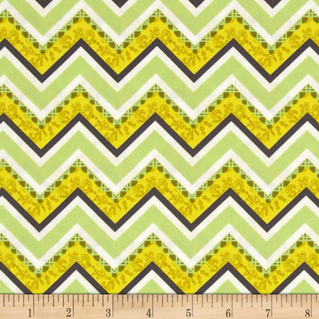Art Gallery Lilly Belle Vintage Fence Lime Fabric By The Yard