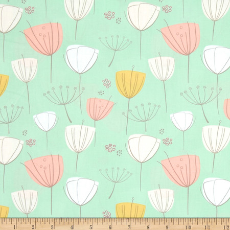 Art Gallery Littlest Floral Frolic Apricot Fabric By The Yard