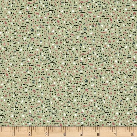 Art Gallery Sketchbook Speckled Jade Fabric