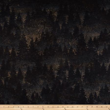Aspen Ridge Flannel Evergreen Tree's Slate Fabric