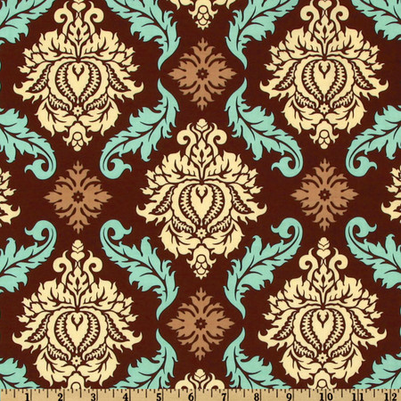 Aviary 2 Damask Bark Fabric