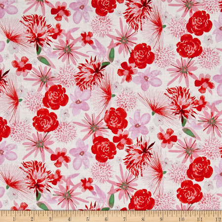 Baby Gone Wild Floral White Fabric By The Yard