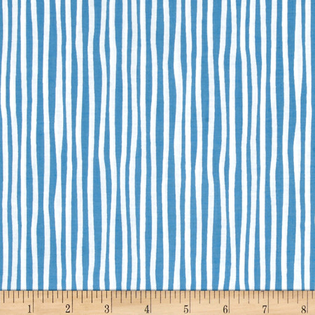 Baby Gone Wild Stripe Blue Fabric By The Yard