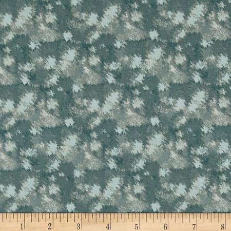 Timeless Treasures Native Pine Tonal Texture Teal Blue Fabric
