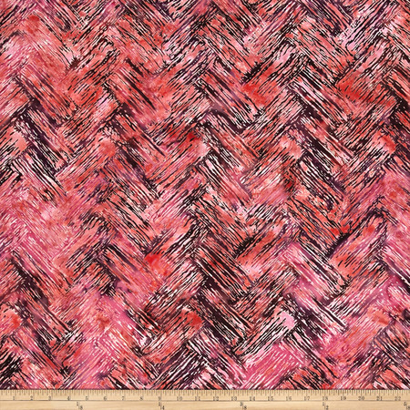 Bali Batiks Handpaints Chevron Brush Sunset Fabric