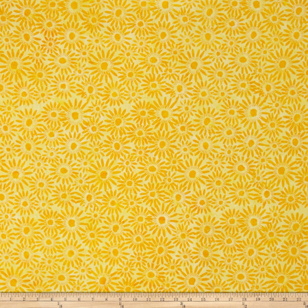 Bali Batiks Handpaints Daisies Sun Fabric By The Yard