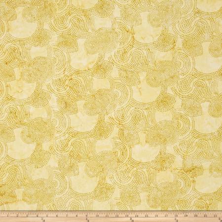 Bali Batiks Handpaints Dotty Circle Key Lemon Lime Fabric By The Yard