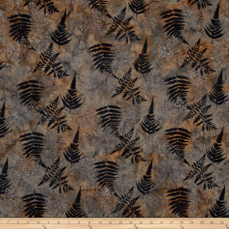 Bali Batiks Handpaints Fern Granite Fabric By The Yard
