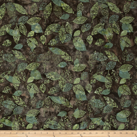 Bali Batiks Handpaints Leaf Monstera Fabric