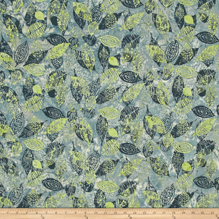 Bali Batiks Handpaints Leaf Treetop Fabric