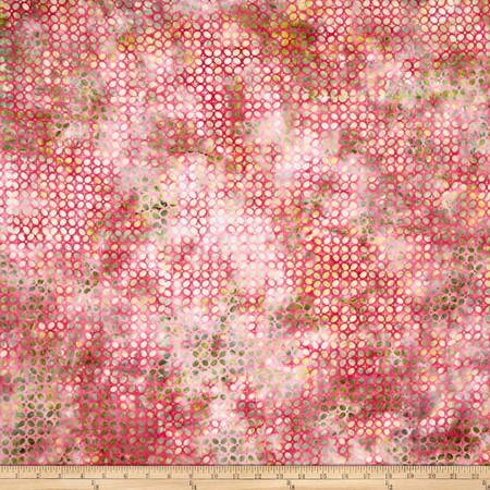 Bali Batiks Handpaints Oval Radish Fabric By The Yard