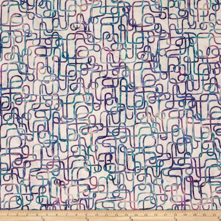 Bali Batiks Handpaints Piping Pastel Fabric By The Yard