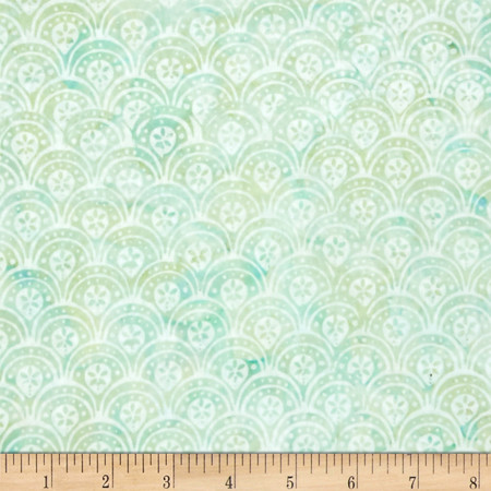 Bali Batiks Handpaints Scallop Seagrass Fabric