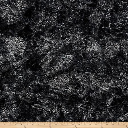Bali Batiks Handpaints Waves Mineral Fabric By The Yard