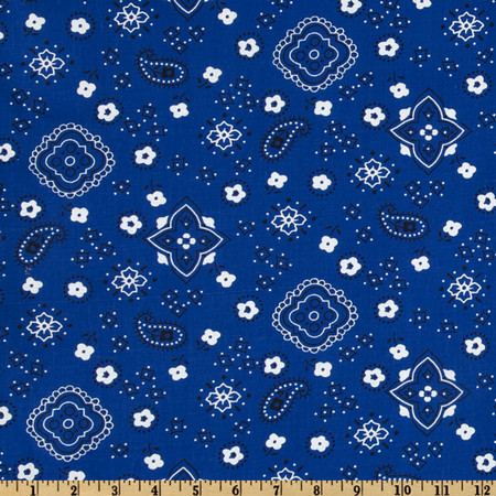 Bandana Prints Royal Fabric By The Yard