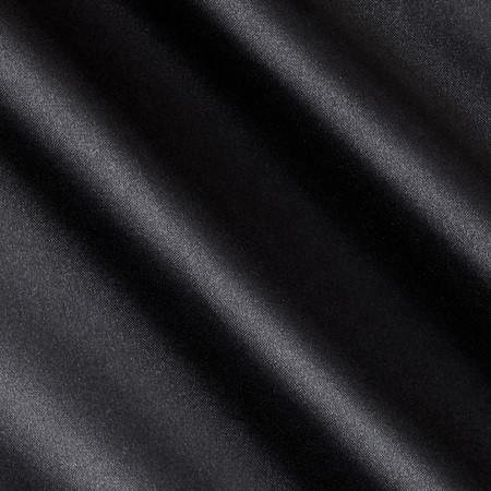 Barcelona Spandex Stretch Satin Black Fabric