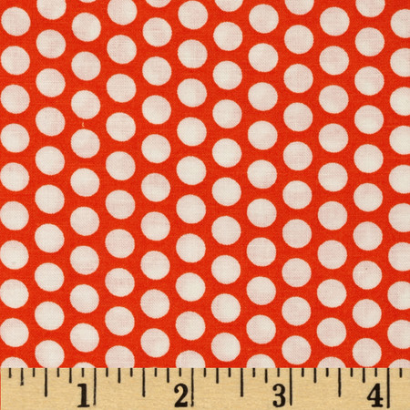 Basic Training Medium Dot Orange Fabric By The Yard