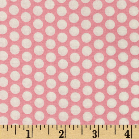 Basic Training Medium Dot Pink/White Fabric By The Yard