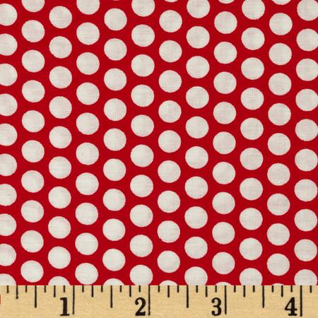 Basic Training Medium Dot White/Red Fabric