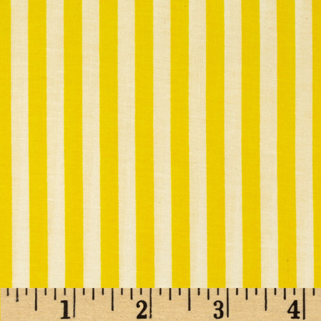 Basic Training Stripe Yellow/White Fabric
