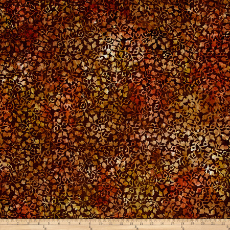 Wilmington Batiks Ivy Vines Brown Fabric By The Yard