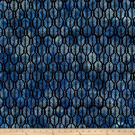 Wilmington Batiks Palm Texture Dk.Blue Fabric By The Yard