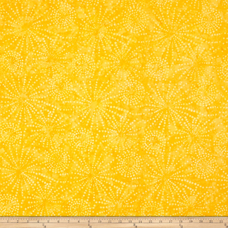 Batavian Batiks Sparklets Dark Yellow Fabric