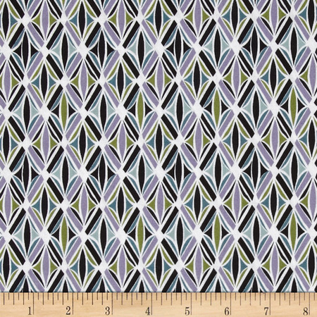 Bel Air Trellis Black Fabric