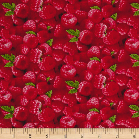 Berry Good Packed Raspberries Fabric By The Yard