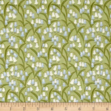 Bluebell Wood Bluebell Fields Green Fabric By The Yard