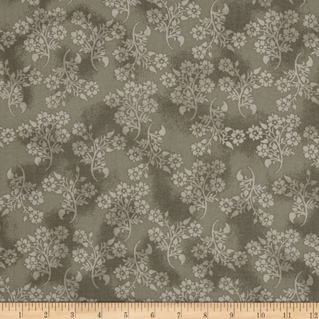 Bombay Floral Bunch Gray Fabric By The Yard