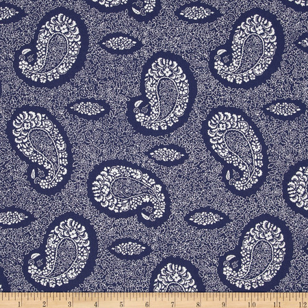 Bombay Paisley Blue Fabric