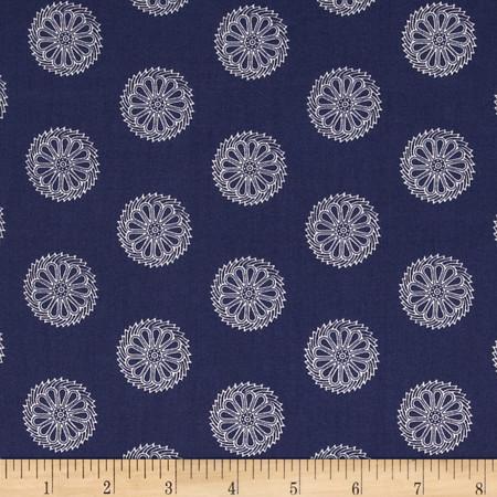 Bombay Pinwheels Blue Fabric