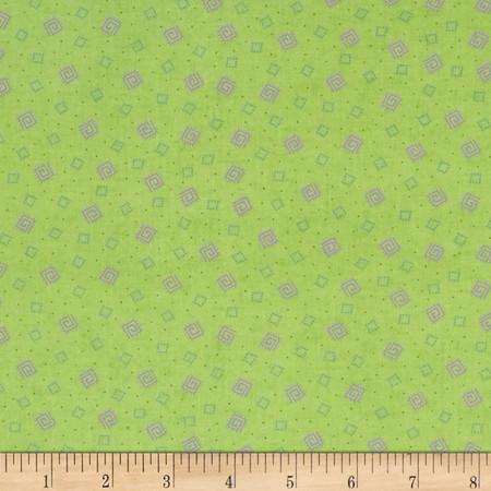 Briarcliff Mini Squares Green Fabric