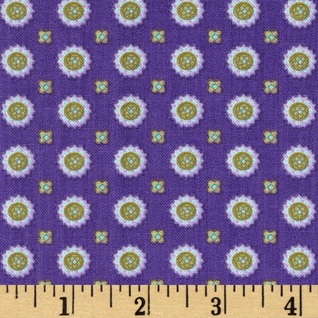 Briarcliff Paisley Medallions Purple Fabric