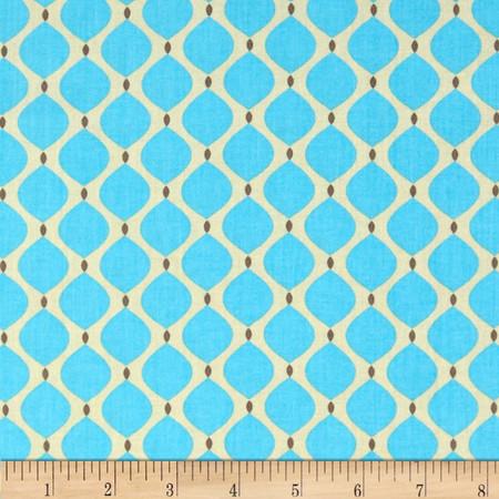 Bright Now Drops Aqua Fabric