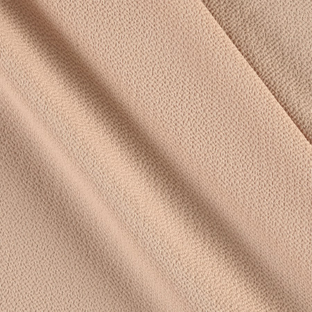 Bubble Crepe Solid Buff Fabric By The Yard