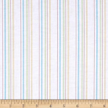 Buttercream Stripe Aqua Fabric By The Yard