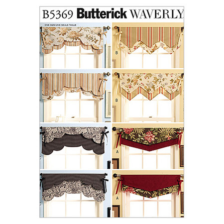 Butterick Fast & Easy Reversible Valances Pattern B5369 Size OSZ