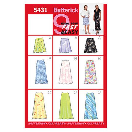 Butterick Misses'/Misses' Petite Skirt Pattern B5431 Size 060