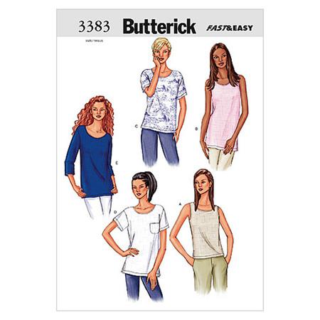 Butterick Misses'/Misses' Petite Top Pattern B3383 Size LRG